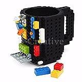 b-creative Colorful DIY creative Building Block Tea Cup Brick tazza costruire su Block puzzle Black