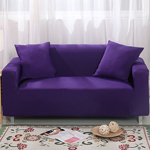MAXWOW Elastic sofa cover for Pets, Anti-slip Padded 1-Piece Polyester Spandex All-Inclusive Sofa Cover Living Room -Morado Seats of Love