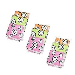 ayushicreationa women's soft cotton smiley handkerchief pack of 9