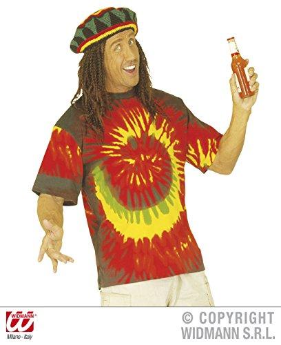 Party Reggae Kostüm - Widmann-WDM4328J Erwachsenenkostüm, Rot, Gelb, WDM4328J