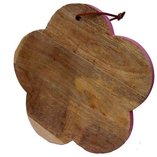 Mangoholz Brett Schneidebrett Blume