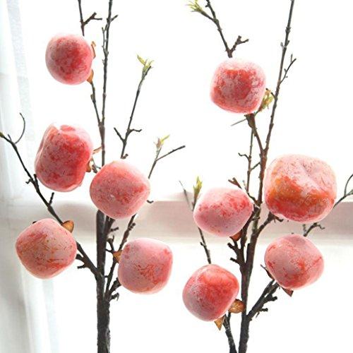 Longra Wohnaccessoires & Deko Kunstblumen Fake Künstliche Rose Frucht Granatapfel Beeren Blumenstrauß Floral Garden Home Decor Blumen (Orange)