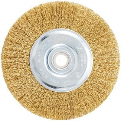 Coarse Wire Wheel (Vermont American 16801 6-Inch Coarse Brass Wire Wheel Brush with 1/4-Inch Hex Shank for Drill by Vermont American)