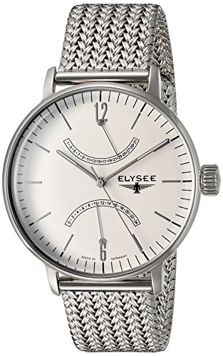 ELYSEE Made in Germany Sithon 13270M 42mm Silver Steel Bracelet & Case Mineral Men's Watch