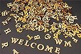 250+ Holz kleine Buchstaben (1cm) Alphabet Dekoration Selbstklebend (NF17