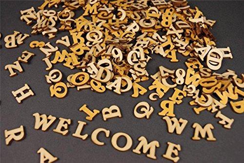 Holz-bilderrahmen Zum Dekorieren (250+ Holz kleine Buchstaben (1cm) Alphabet Dekoration Selbstklebend (NF17)