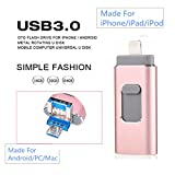 FeliSun Neues Design 16GB USB i-Flash Drive Memory Stick Memory Stick Speicherstick Card Reader Adapter Kartenleseradapter with Drei Interfaces [ Lightning, USB3.0 and Micro USB] For iPhone iPad iPod Android Cellphones Tablets PC Macbook