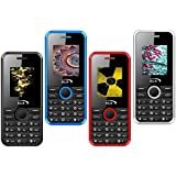 GLX W8 (Black,Blue,Red,White), 1.8 Inch Display COMBO OF FOUR Basic Feature Mobile Phone With WIRELESS FM & 1 Year Manufacturer Warranty