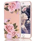 BSLVWG iPhone 7Plus avec Coque, Fleurs, iPhone 8Plus Floral Fin résistant aux...