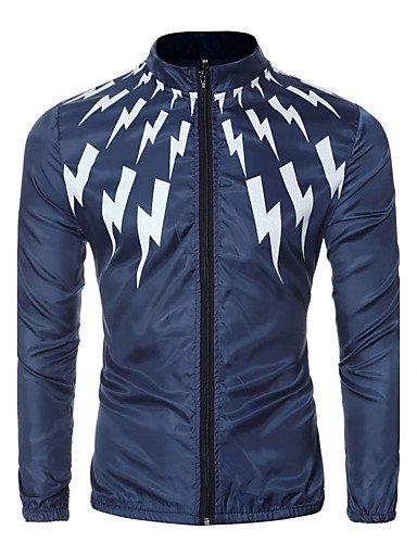 Navy Blue Jacke Hot (ZHUDJ Männer Gehen/Casual/Täglich e Jacketssolid/Floral Kragen Langarm Frühling Hot Sale, Xl, Navy Blue)