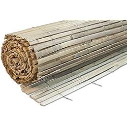 Windhager Sichtschutzmatte BEACH Bambus Bambusmatte Sichtschutz-Zaun Windschutz , 100 x 300 cm, natur, 06684