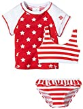 Snapper rock maillot de bain anti-uV pour fille dreiteiler et de bain motif stars and stripes t-shirt Multicolore Bleu