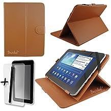 Marrone PU copertura di schermo e supporto per Arnova 9G2& G324,6cm pollici Tablet + pellicola proteggi schermo e penna stilo