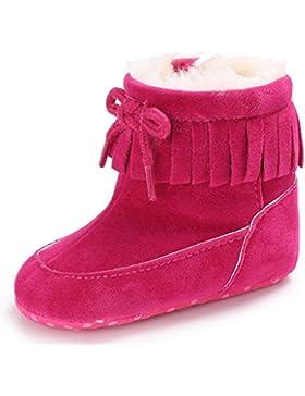 FNKDOR Baby Schuhe Kinder Mädchen Jungen Baumwolle Stiefel Warm Schneestiefel