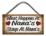 Best Nanas - Birthday occasion Wooden Funny Sign Wall Plaque What Review