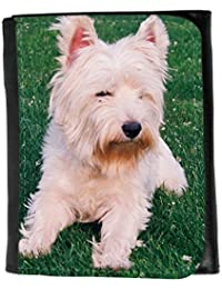 le portefeuille de grands luxe femmes avec beaucoup de compartiments // V00003977 West highland terrier // Small Size Wallet