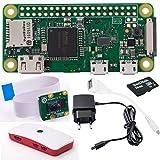 Raspberry Pi Zero W Deluxe Bundle Caméra: pi Zero W + alimentation + Module de caméra Raspberry Pi V2+ adaptateur Micro USB OTG + MicroSD 16Go 1A + Set boîtier