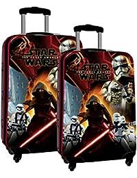 Disney Star Wars Battle 2591651 - Juego de 2 Maletas, 86 Litros 55/67CM, Color Negro