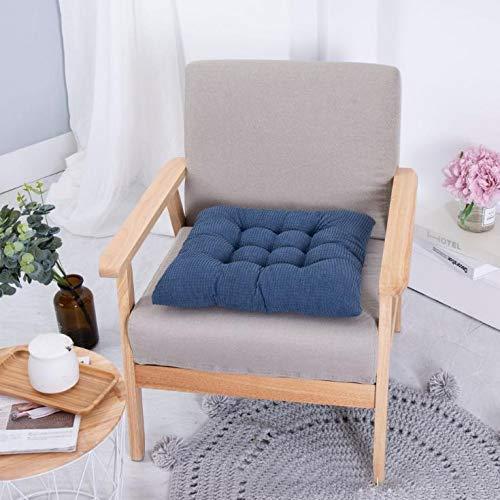SEnjoyy Blau Stuhlkissen Stuhlauflage Sitzpolster Kissen Sitzkissen mit Schleifenband