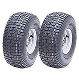 2-15x6.00-6 Gras Reifen auf Felgenwagen Buggy - Anhänger - Heu Bob Turner Rechen