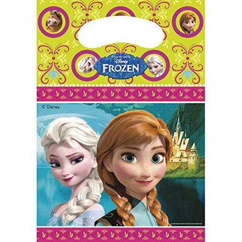 Unique Party - Sacchetto con i personaggi di Frozen - Feste (Taglia unica) (Verde/Rosa/Blu)