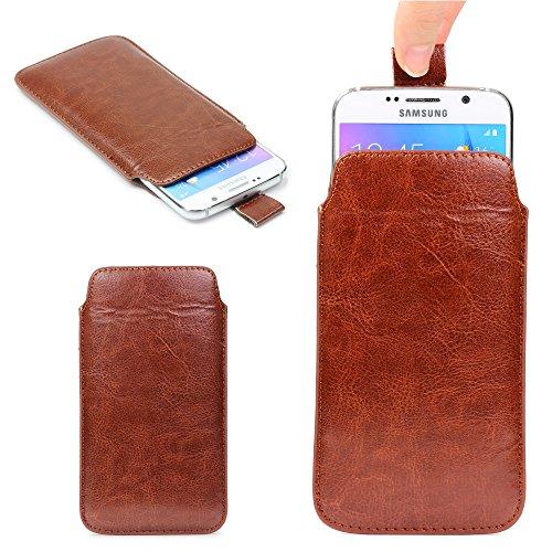 Original Urcover® Universal Schutzhülle [DEUTSCHER FACHHANDEL] Hülle Schale Pull Tab Etui Cover case Galaxy S7 Edge, S6 Edge Plus, iPhone 6 / 6s Plus Braun