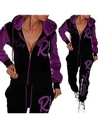 """'Mujer College Traje de jogging Chándal Royal Sailing """", negro, púrpura, XXXL (fällt aus wie 50)"""