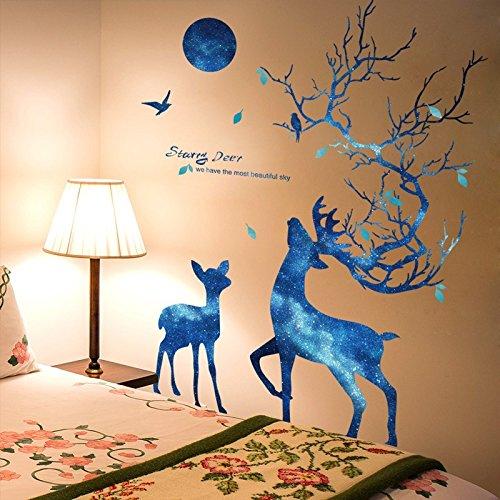 Hongrun Les Chambres sont meublées Chambre Teenage Heart Blue Dream Sky Allemagne décorations lit conteneur Mural Auto-adhésif Affiches 140 * 100cm