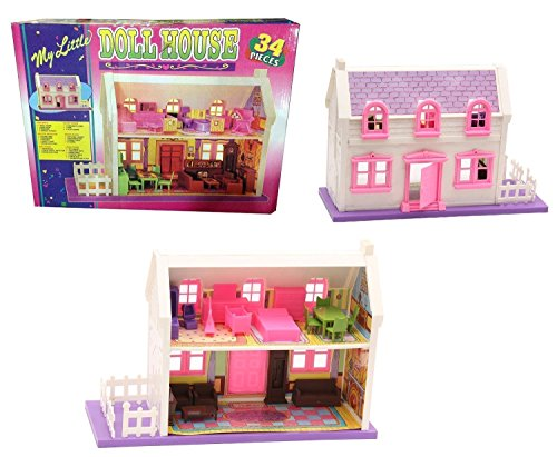 22 Off On Mamma Mia 34 Pieces Complete Doll House Play Set For Kids