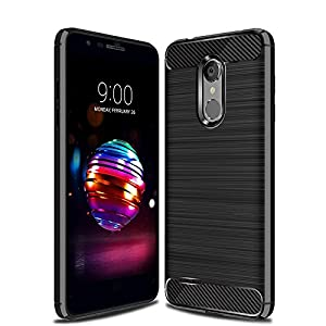 CruzerLite LG K10 2018 Case, Carbon Fiber Shock Absorption Slim Case for LG K10 2018 (Black)