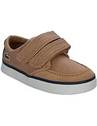 Lacoste - Zapatillas de Tela para niño marrón canela