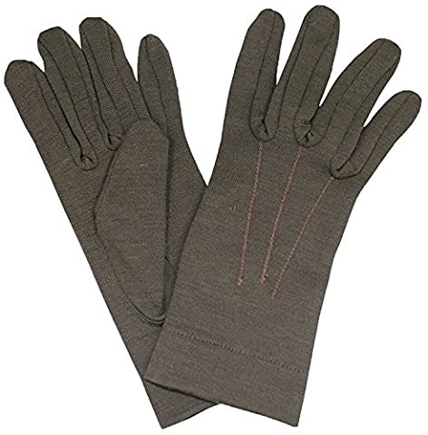 Genuine Italian Army Issue Combat Winter Wool Gloves - Olive Green (Large)