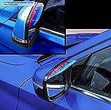 M Power Style - Tiras protectoras para el espejo retrovisor del coche (PVC, flexibles, resistentes a la lluvia, 2 unidades)