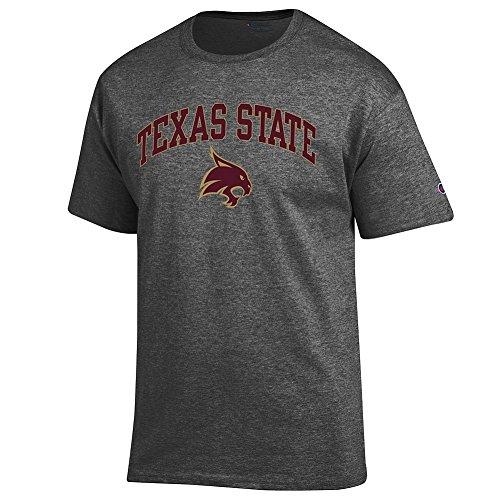 eLITe NCAA Herren T-Shirt mit kurzen Ärmeln, Dunkelgrau, Herren, Short Sleeve T-Shirt Charcoal Gray Arch, Texas State Bobcats Charcoal, Medium -