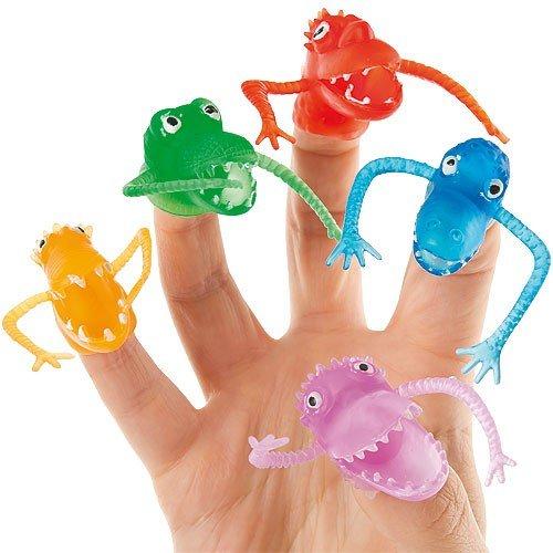 Baker Ross Fingerpuppen Monster für Kinder zum Ausmalen und Spielen (10 Stück)
