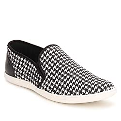 Knotty Derby Mens Black and White Sneakers - 9 UK/India (43 EU)