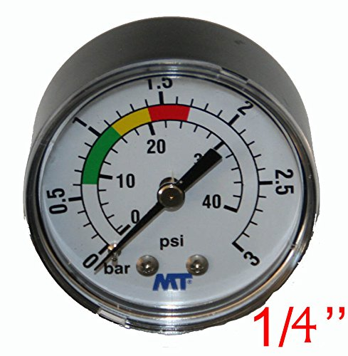 'Manometer ABS 840003ABS für Filter Pool Befestigung Hinten Verbindungsstück Axial Manometer Gewinde 1/8–MT–jardiboutique - Abs Filter