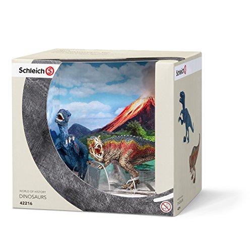 Schleich 42216 - Spielzeugfigur - T-Rex und Velociraptor, klein