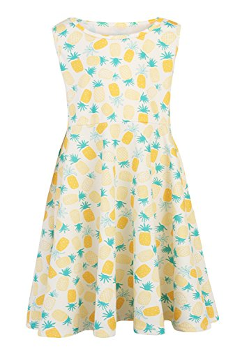Funnycokid Mädchen Sleeveless Floral Kleidung Prinzessin Party Kleid ()