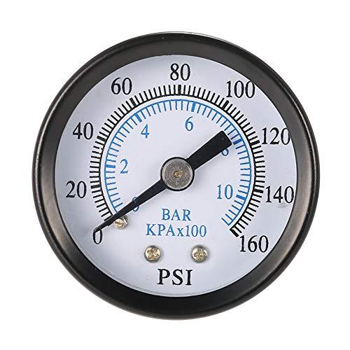 Man9Han1Qxi 0-160psi 0-10bar Druckluft-Manometer 1/8-Zoll-NPT-Rückenmontage 1 - 60 Psi-manometer