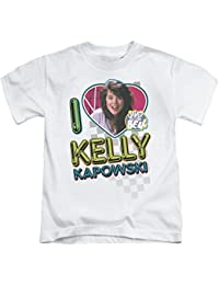 2Bhip Saved by The Bell NBC TV Series I Love Kelly Little Boys T-Shirt Tee