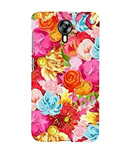 PINK FLORAL PATTERN 3D Hard Polycarbonate Designer Back Case Cover for Micromax Canvas Xpress 2 E313::Micromax Canvas Xpress 2 (2nd Gen)