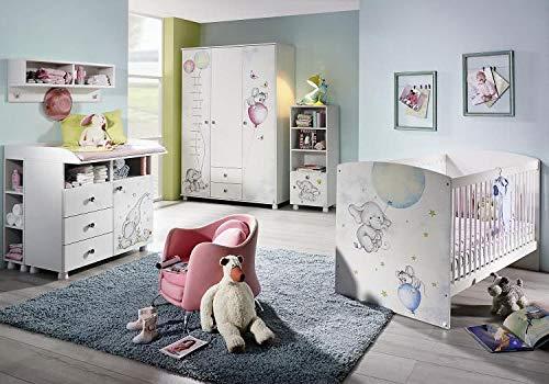 RASANTI Babyzimmer 5-TLG Jemma von Rauch Packs Alpinweiß Elephant/Maus