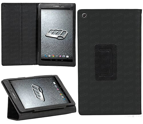 Jkobi Synthetic Leather Tablet Book Front & Back Protection Flip Case Cover For Micromax Canvas Tab P690 -Polish Black  available at amazon for Rs.195