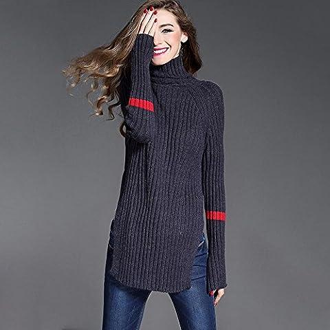 WZH manica dolcevita Pullove da donna contempla maglione Maglieria . navy blue . m