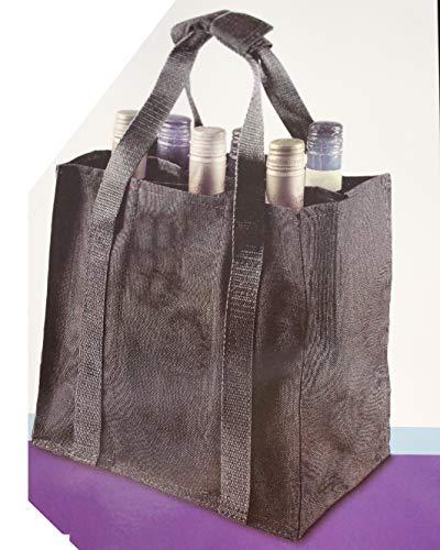 Kamaca ® Flaschentasche für 6 Flaschen bis ca 20kg Flaschenträger schwarz Bottle Bag perfekt für Einkauf und unterwegs (Flaschentasche)