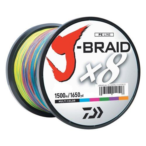 Daiwa J-Braidx8 JB8U65-3000MU Test, 65 lbs Test, Mehrfarbig, 3000 m