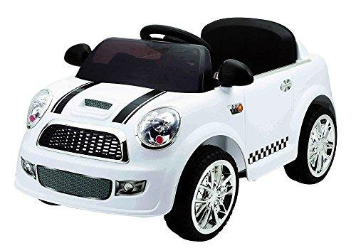 Auto Baby Macchina Elettrica Mini Car Bianca 1 Posto 6V Per Bambini