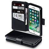 Coque Cuir iPhone 8 / iPhone 7, Terrapin Étui Housse en Cuir Véritable pour iPhone 8 Case - Noir