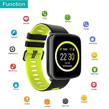 Yamay Smartwatch Bluetooth Smart Watch Uhr Mit Pulsmesser Armbanduhr Wasserdicht Ip68 Fitness Tracker Armband Sport Uhr Fitnessuhr Mit Schrittzähler,schlaf-monitor,setz-alarm,stoppuhr,sms-, Anruf-benachrichtigung Pushkamera-fernsteuerung Musik Für Android Und Ios Telefon 16